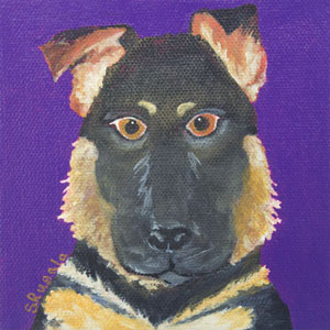 German Shepherd Dog Painting
