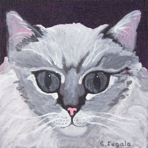 Princess Charlotte Cat Painting