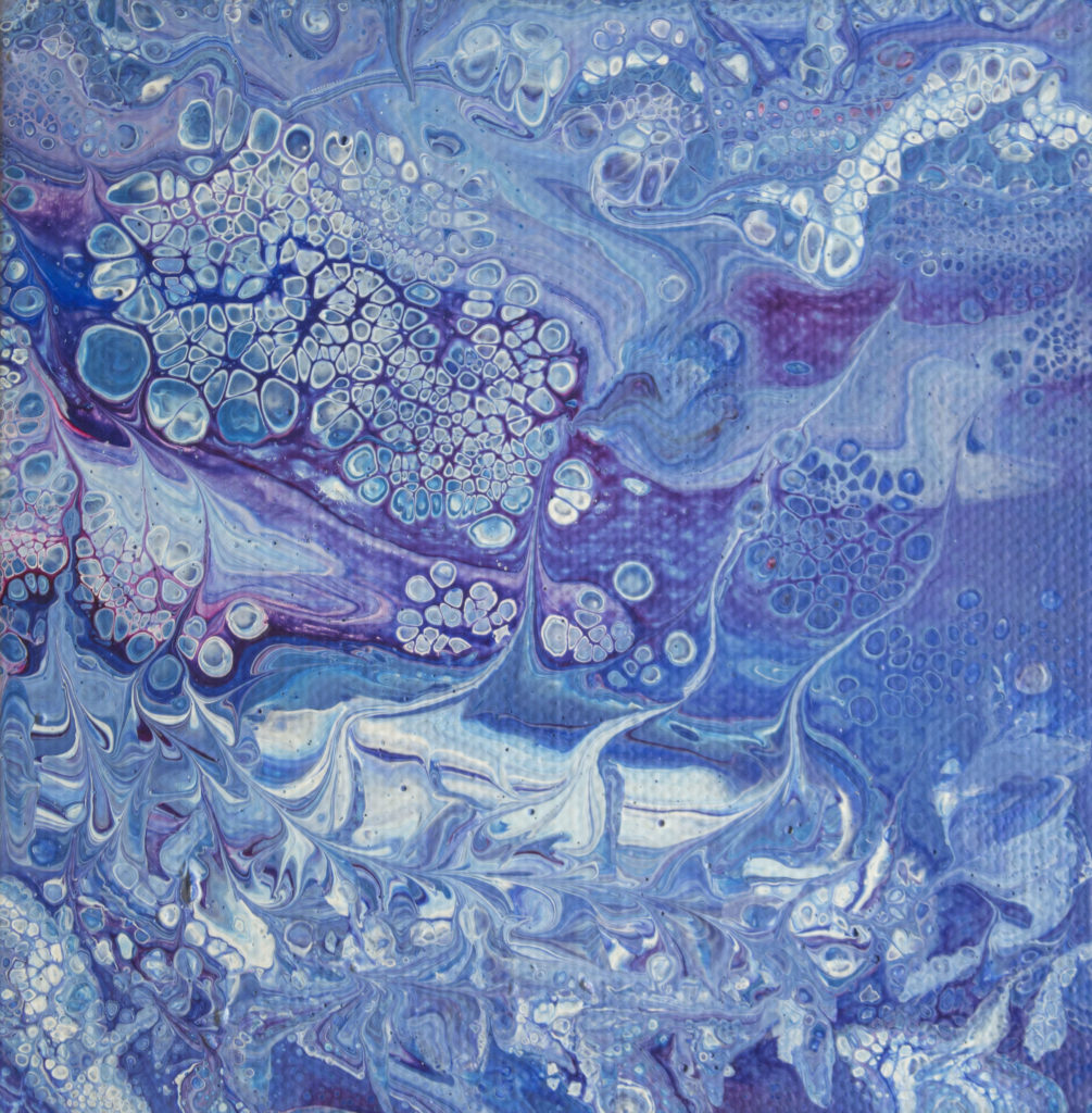 Acrylic Painting by Sally Rugala Land of Whispers acrylic pour painting